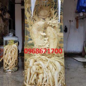 Điêu khắc cá chép hóa rồng